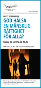 Seminariedag, Hälsa och Nationella Minoriteter @ Cästerbottens museum | Västerbottens län | Sverige