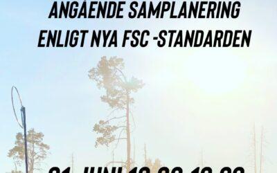 FSC uppsamlingsmöte 21 juni kl 18.00